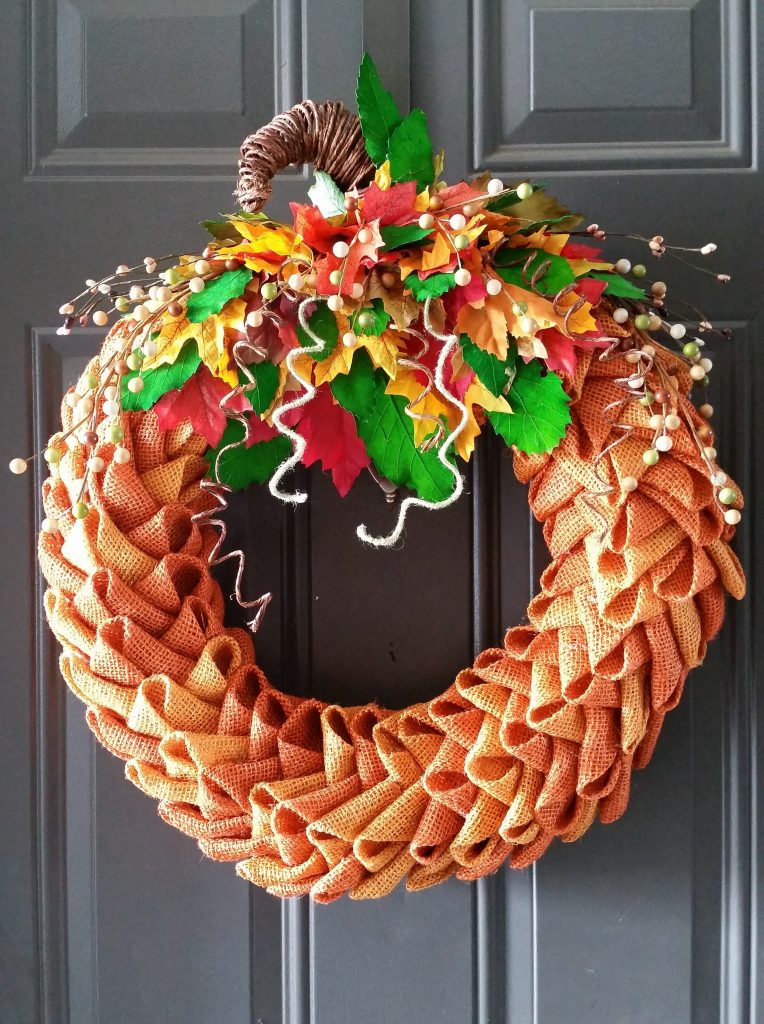 Pumpkin Wreath Red Chair Creations
